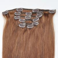Buy cheap Factory Price Brown Hair Color Silky Striaght Clips in Hair Extension in stock from wholesalers