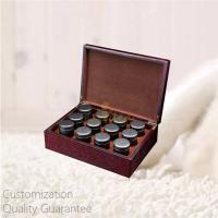Buy cheap Custom Personal Tea Brands Rich Walnut Wooden Tea Tins Caddies Display Storage from wholesalers