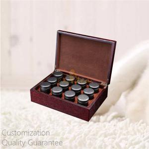 Buy cheap Custom Personal Tea Brands Rich Walnut Wooden Tea Tins Caddies Display Storage Gift Box, Personal Logo, 12 Tea Tins product