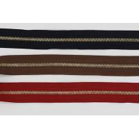 Buy cheap Raw Brass  Continuous Upholstery Zips Roll , 3# 4# 5# Upholstery Zippers By The Yard from wholesalers