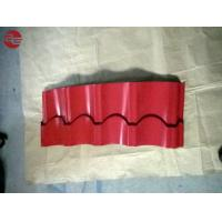 Buy cheap Building Materials Colour Coated Roofing Sheets With Aluminum Corrugated Red Colour from wholesalers