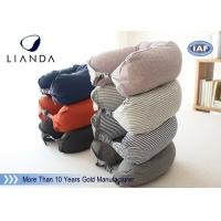 Buy cheap Comfortable Travel Neck Pillow U Form Microbead Neck Pillows , Blue Brown Red from wholesalers