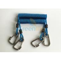 Buy cheap Retractable Tool Tether Lanyards Blue Spring Elastic Plastic Coiled Tethers product