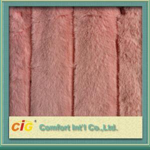 Buy cheap Luxury Faux Fur Fabric Jacquard Imitation Of Rabbit Hair 410gsm product