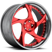 Buy cheap 20 inch customized red spoke 2 piece forged car wheel rim china from wholesalers
