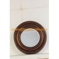 China FR-16720 Antique Style Wall Decorative Round Resin Framed Mirror on sale