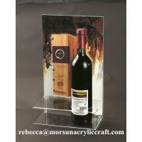 Buy cheap Counter top perspex red wine bottle holder acrylic wine display rack from wholesalers
