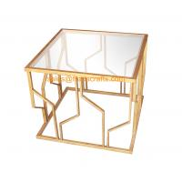 Buy cheap Reasonable Price Quality Assured Fashion Design Metal Framed Tempered Glass Top Decorative  Coffee Table from wholesalers