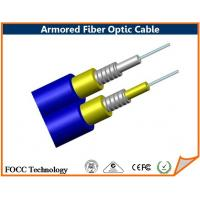 Buy cheap Blue Duplex Loose Tube Outdoor Armored 8 Core Fiber Optic Cable Single Mode from wholesalers