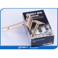 Buy cheap Gold Color Luxury Metal Alloy Disposable Shaving Razor Double Edge Razor For Men from wholesalers
