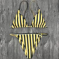 Buy cheap Wholesale and Retail 2018 Women Sexy Striped Triangle Brazilian Bikini Set product