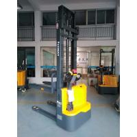 China Yellow Auto Pallet Stacker , Industrial Lifting Equipment Easy Operation on sale