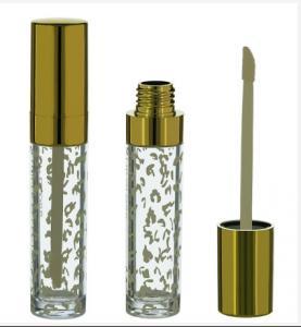 Buy cheap Gold Clear Lip Gloss Tube, Gold lip gloss tube, Gold lip gloss container product