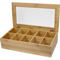 Buy cheap 10 compartments bamboo wooden organic assorted tea storage box tea gift set from wholesalers