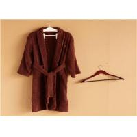 Buy cheap Hotel Kimono Collar Bathrobes Towel Soft Coral Velvet Dark Red Color from wholesalers