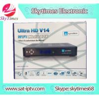 Buy cheap SKYTIMES  V14 Fta Hd Satellite Receiver JB200 and WIFI Big Cooling Fan with HD cable from wholesalers