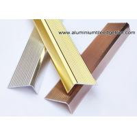Buy cheap Anti Slippery Aluminum Stair Nosing / Edging / Brace With 45mm X 20 mm from wholesalers