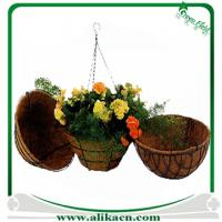 Buy cheap Metal Hanging Basket With Coco Liner from wholesalers