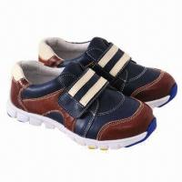 Buy cheap Children's sports shoes for boys, fashionable design, made of imported cow leather from wholesalers