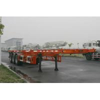 Buy cheap 40ft Skeletal Three Axles Steel Shipping Container Trailer Chassis ISO9001 CCC from wholesalers