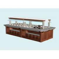 Buy cheap L6800xW1800xH(850+650)MM Wood Structure Marble Stone Hot Buffet Counter, Commercial Buffet Equipment from wholesalers