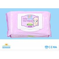 Buy cheap Plain Nonwoven Baby Wet Wipes Skin Care , Natural Organic Baby Wipes No Chemicals from wholesalers