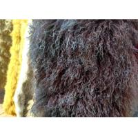 Buy cheap Real Long hair Sheepskin Genuine Mongolian lambswool curly sheep fur blanket from wholesalers