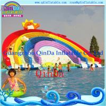Buy cheap Guangzhou QinDa Inflatable Slide Inflatable Water Slide. Water Park. Water Pool Slide from wholesalers