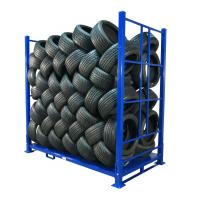 Buy cheap Warehouse Foldable Stack Portable Steel Storage Tire Pallet Racking/Rack from wholesalers