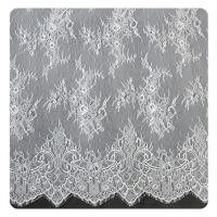 Buy cheap Eco friendly Dyeing Fabric , Flora Bridal Chantilly Nylon Lace With Nylon Material product