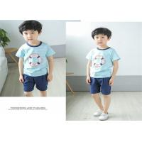 Buy cheap Korean Version Children's Style Clothing , Printed Striped Childrens Summer Clothes from wholesalers