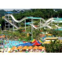 Buy cheap Customized Gigantic Mile Long Fiberglass Water Slides in Blue White Green from wholesalers