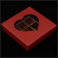 Buy cheap Base And Lid Cardboard Boxes , Valentine'S Day Chocolate Box With Plastic Window from wholesalers