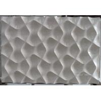 China Natural beige marble 3d wall panelling on sale