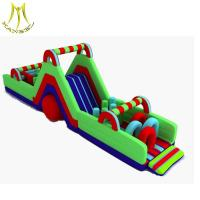 Buy cheap Hansel indoor and outdoor parks inflatable water obstacle castle inflatable slide obstacle from wholesalers