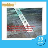 Buy cheap Kitchen decorative channel shower drain custom  300mm to 2000mm shower pan drain from wholesalers