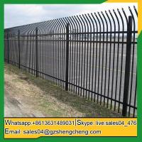 Buy cheap Mount Magnet curved wrought iron fence panel decorative picket fencing from wholesalers