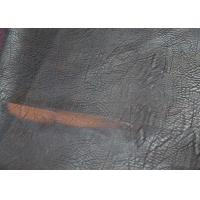 Buy cheap 0.70mm brown color pu synthetic brushed off leather with rayon backing fabric  for garment from wholesalers