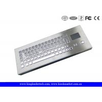 Top quality IP65 Mini Industrial Desktop Keyboard Metal With Touchpad for sale