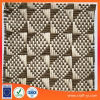 Buy cheap natural raffia upholstery fabric gray color raffia outdoor fabric from wholesalers