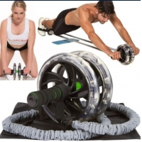 Buy cheap double wheel ab exerciser double wheel ab roller pull rope double wheel ab roller exercises from wholesalers