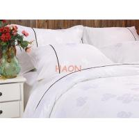 Buy cheap Egyptian Cotton White Hotel Bed Linens , Jacquard Hotel Bedding Sets from wholesalers