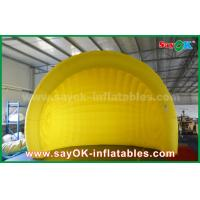 Buy cheap Yellow Helmet Inflatable Air Tent Inflatable Igloo Tent Dome For Event / Party from wholesalers