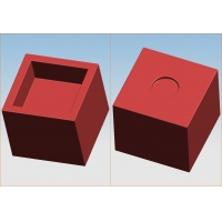 Buy cheap rotational molding cube flower pot from wholesalers