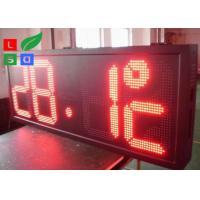 Buy cheap Time / Temperature LED Programmable Scrolling Message SignsP10 Auto Dimming By Sensor from wholesalers