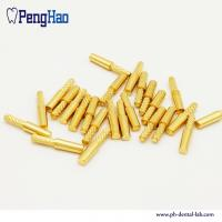 Buy cheap China factory supply high quality dental brass dowel pins with stike for dental lab from wholesalers