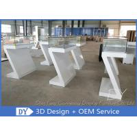 Buy cheap Custom Fashion Modern Retail Glass  Jewelry Display Cases With Light product