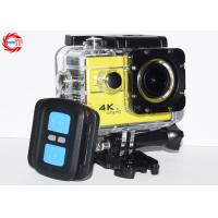 Buy cheap Yellow Wireless 4K Remote Control Action Camera FHD 1080p 60fps Waterproof from wholesalers