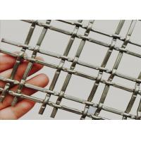 Buy cheap Warp Pitch 36.7mm Stainless Steel Decorative Wire Mesh With  Lock Crimped Rod from wholesalers