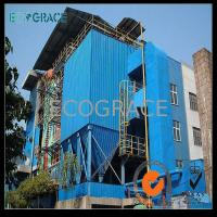 25 Tons Melting Furnace Industrial Dust Collector , Dust Collection Units in Blue